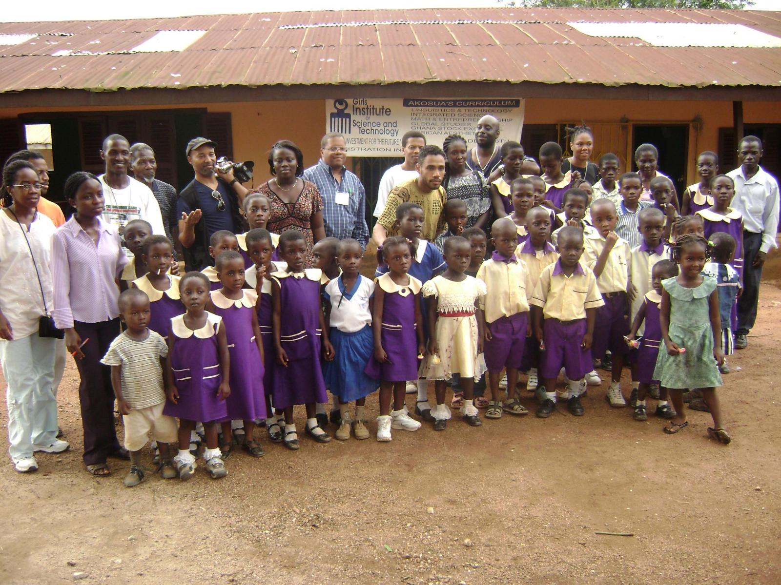 Socializing with the children of Africa