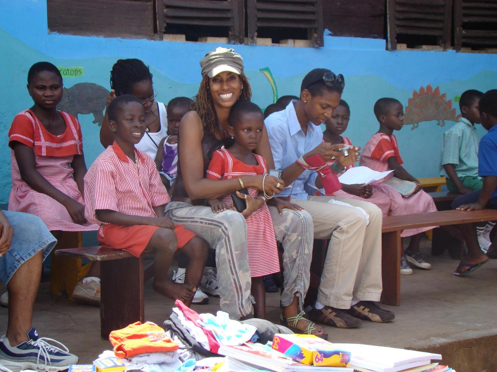 Socializing with the children of Ghana